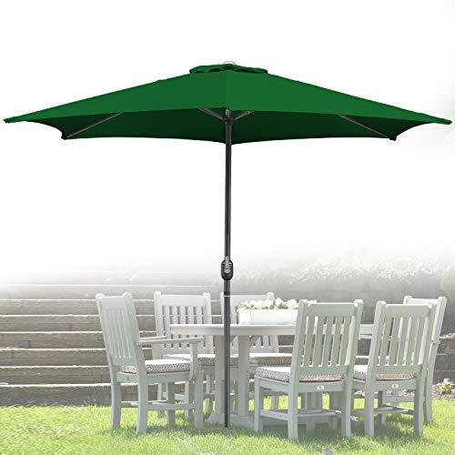 Wolketon Für Garten, Terrasse, Loggia, Balkon, Camping-Platz, Pool, Planschbecken 3.5m Grün Sonnenschirm Garten Schirm Marktschirm Ampelschirm Kurbel Schirm
