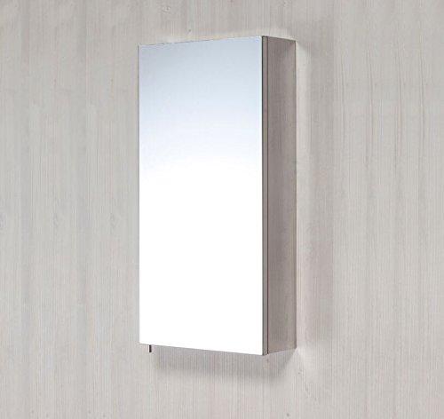 #FNX Badezimmer Spiegelschrank Single Tür in Edelstahl sscb01#