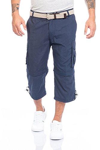 Herren Shorts kurze Hose mit Dehnbund in verschiedenen Farben ID388, Größe:3XL;Farbe:Blau (50 Größe Herren Hose Cargo)