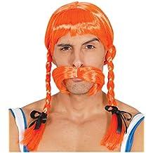 Guirca 4577 - Peluca Galo Naranja(Envase Caja)