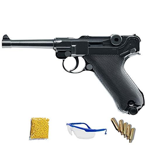 Umarex Legends P08 (6mm) - Pistola de Airsoft Calibre 6mm (Arma Corta de Aire Suave de Bolas de plástico o PVC). Sistema: CO2