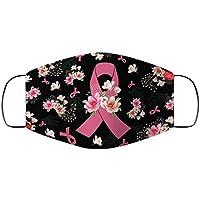 1 unid cara cubriendo las mujeres negro rosa media cara Bandana bufanda día mundial del cáncer impreso a prueba de polvo transpirable algodón paño de la boca ciclismo al aire libre bufanda