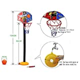 Mini canestro basket,Mini Basket Hoop Portatile Pallacanestro Giocattolo Impostare l'altezza di 20 a 120 cm Giocattoli per bambini