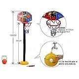 KidsHobby® Kids Junior Portable Adjustable Basketball Stand Outdoor Summer Garden Beach Fun Ball
