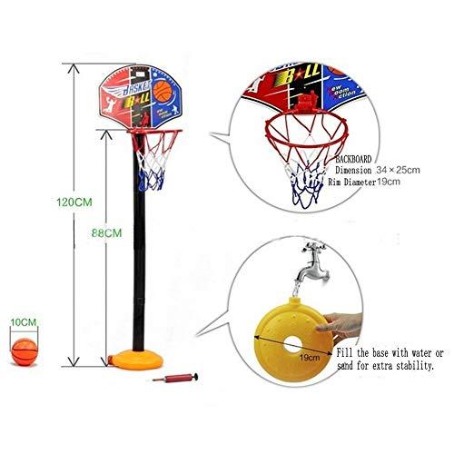 KidsHobby® Kinder Mini Basketballkorb Hoop Set Höhenverstellbar Basketballständer Basketball Backboard  Fürs Zimmer  Indoor Und Outdoor Fun Ball Spielzeug.
