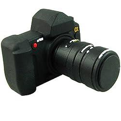 818-Shop no31800050064 Hi-Speed 2.0 USB PenDrive 64GB macchina fotografica della apparato corpo 3D nero