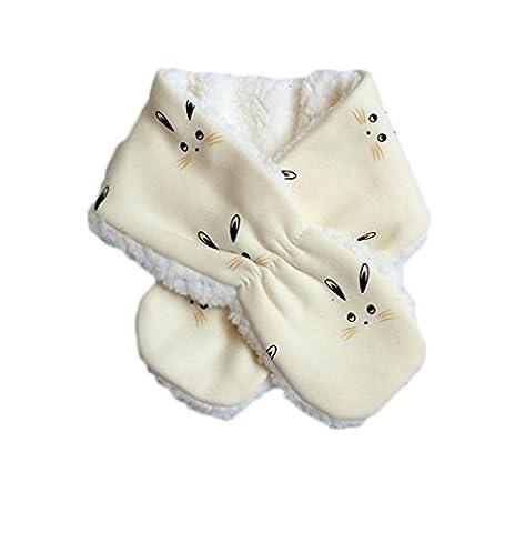 Da.Wa Version Coréenne des Nouveaux Foulards en Cachemire bébé Lapin Echarpe Bébé Les Garçons les Filles Tombent et écharpe Chaude d
