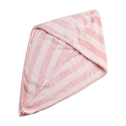 Hotopick Haar-Trocknendes Tuch Wasseraufnahme Trockenes Haar Kappe, Schnell Trocknend Mikrofaser Dame Towel Bad Kopf Wickeln