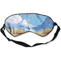 Comfortable Sleep Eyes Masks Watercolor Nature Pattern Sleeping Mask For Travelling, Night Noon Nap, Mediation... preisvergleich bei billige-tabletten.eu