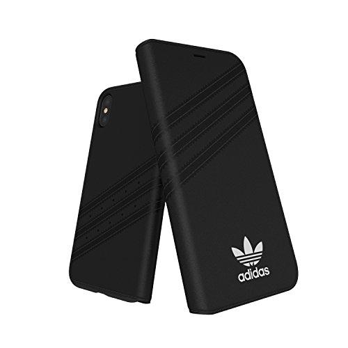 adidas Originals Stripes Booklet Case Handyhülle für Apple iPhone X - Schwarz/Weiß Black/White