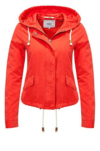 Only Onlskylar Parka Jacket Cc Otw, Blouson Femme Rouge
