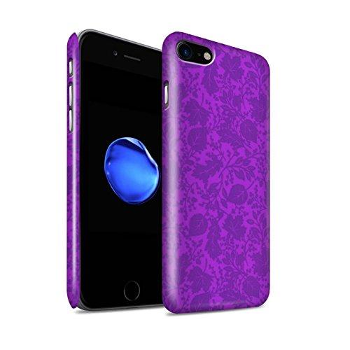 STUFF4 Glanz Snap-On Hülle / Case für Apple iPhone 8 / Pack 7pcs / Blatt/Silhouette Muster Kollektion Lila