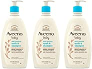 Aveeno Baby Gentle with Natural Oat Extract, Tear-Free & Paraben-Free Formula For Hair & Body, Lightly