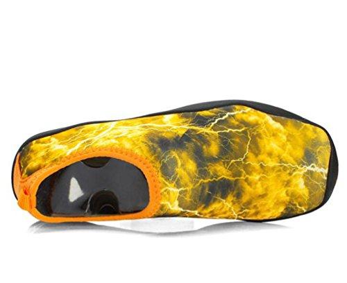 Coussin léger d'air de natation athlétique Monk-straps Running École respiratoire de gymnastique PE Chaussures confortables pour hommes Taille de l'UE 38-45 Orange