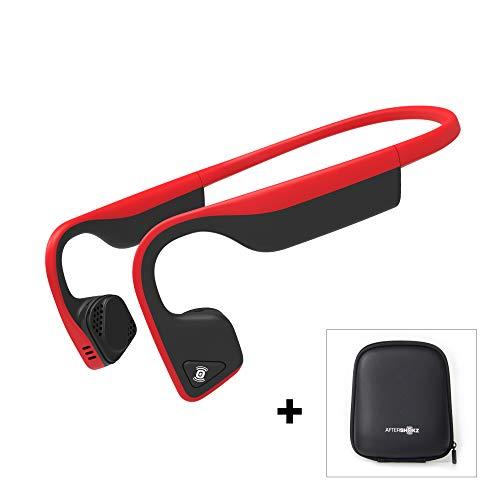Aftershokz Trekz Titanium - Auriculares de conducción ósea inalámbricos Open-Ear (Orejas Libres) con Estuche de Transporte