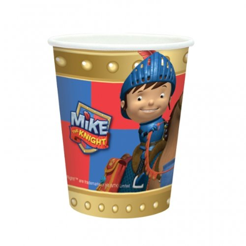 Amscan 266ml Mike The Knight Copas (8 Paquete)