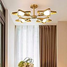 Kroonluchters LTJ 4 Heads koper vijfpuntige ster Warm Romantisch Lamp van het Plafond (zonder lichtbron) nieuw in 2020 (Color : Without Light Source)