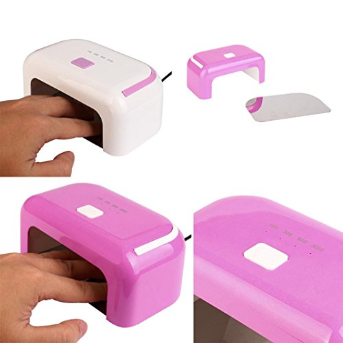 ESAILQ SUN5X Mini Lampe UV LED Sèche-ongles Portable Séchoirs à Ongles Lumière Lampe à Polymériser Nail Art (Blanc)