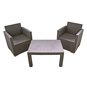 lounge gartenm bel set klein polyrattan optik. Black Bedroom Furniture Sets. Home Design Ideas