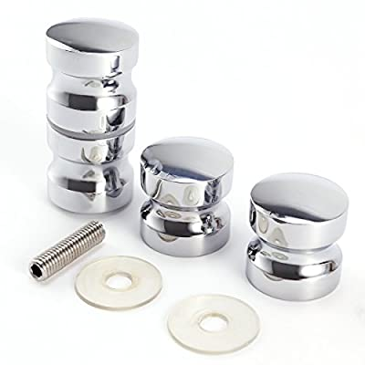 2 x Shower Door Handles/Knobs Chrome Plated Cone Shaped produced by Surepromise - quick delivery from UK.