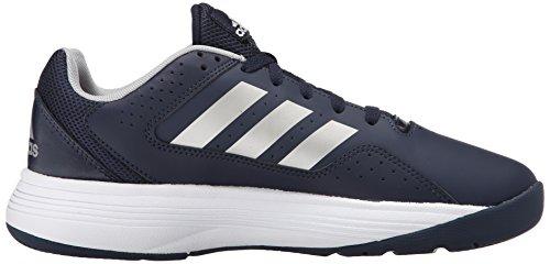 Adidas Performance Cloudfoam Ilation scarpa da basket, nero / bianco / bianco, 6,5 M Us Collegiate Navy/Metallic Silver/Metallic Silver