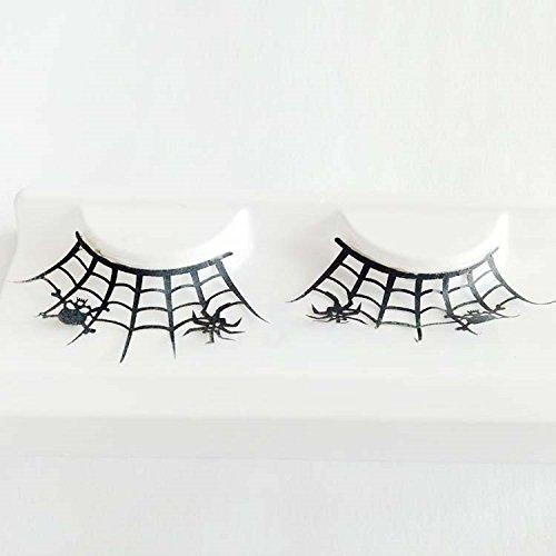 bureze 1par araña arte falso pestañas calavera negro de las...