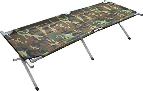 GearUp Feldbett Klappbett Campingbett Gästebett Liege Campingliege 200 cm x 70 cm x 46 cm Farbe Woodland