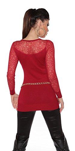 Koucla - Pull - Femme S/M red
