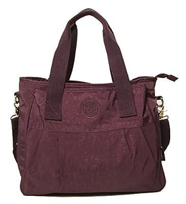 Big Handbag Shop Rainproof Fabric Baby Nappy 3 Compartment Shopping Tote Shoulder Bag - Large Size