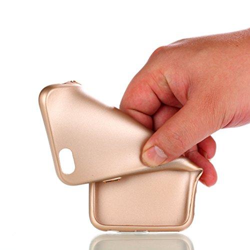 iPhone 6/6S Hülle OuDu UV-härtendes Silikon Schutzhülle [Gefrostet Hülle] Transparente Flexibel Schlank Hülle **NEW** TPU Abdeckung Glatte Leichte Tasche Soft Silicone Case Cover Bumper Kratzfeste Hül Gold