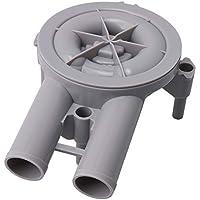 Yibuy 20.5x8.7x12.8cm Gris Número de pieza de plástico 36863 Depósito de gasolina para el motor Motor Accesorio de pieza