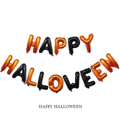 Godya Briefform Aluminium Film Ballon Happy Halloween Briefform Urlaub Party Dekoration Requisiten (16 Zoll) (Halloween-party Die Sie Eine Für Dinge,)