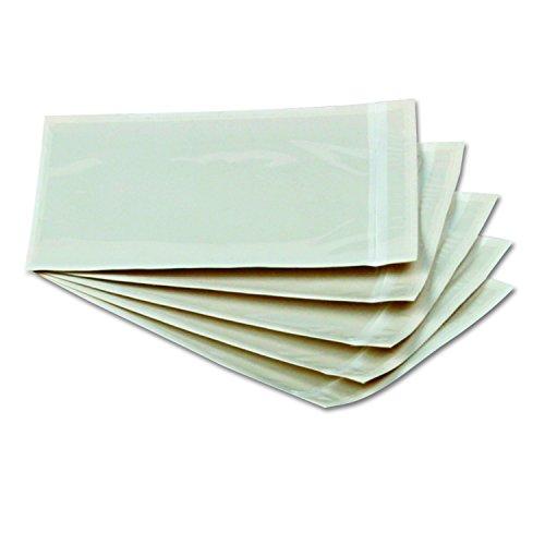 Qualitäts-Packlisten-Umschläge, selbstklebend, transparent, 6 x 4,5 mm, 1.000 Stück pro Box, 46996