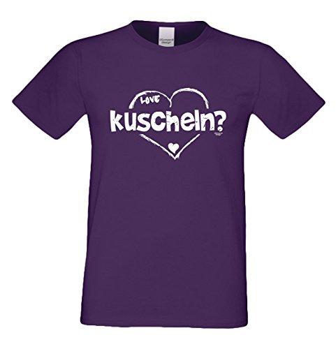 Geburtstagsgeschenk für Ihren Liebsten T-Shirt kuscheln Geschenkidee Geburtstag Vatertag Geschenk Herren Männer Mode Farbe: lila Lila