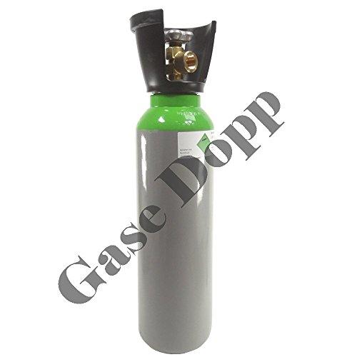 Preisvergleich Produktbild Druckluftflasche 5 Liter 300 bar mit Kunststoffcage - fabrikneue gefüllte Eigentumsflasche 300 BAR - von Gase Dopp