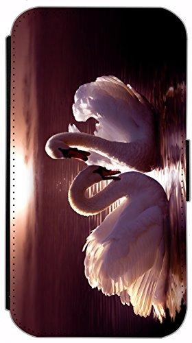 Flip Cover für Apple iPhone 5 5s Design 477 Pferd Hengst Weiß Wiese Grün Weiß Blau Hülle aus Kunst-Leder Handytasche Etui Schutzhülle Case Wallet Buchflip (477) 498