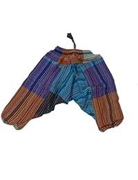 Niños Pantalones Harén Pantalón pumphose aladi–Pantalón pluder Sarouel Baggy Ocio Pantalones Niños Pantalones hippie Sudadera Pantalón goma elástica