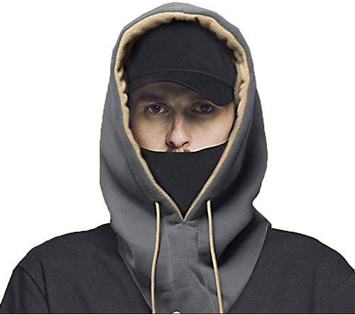 Cold Mask, Ski Headgear, Fleece Cap, Men And Women, Riding, Warm, Windproof, Skiing, Face Maske, Collar, Collar, Collar,gray
