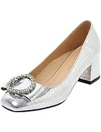 40138d30 Silver - Zapatos de tacón / Zapatos para mujer: Zapatos y ... - Amazon.es