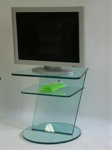 Glas TV Konsole PISA ECO Audio Möbel Konsole Phonomöbel aus Klarglas