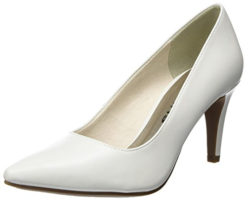 Tamaris Damen 22447 Pumps, Weiß (White Matt), 38 EU