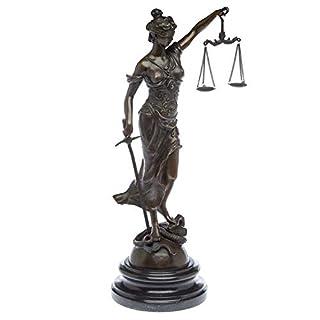 aubaho Bronzeskulptur Justitia Justizia Bronze Figur Skulptur 45cm Sculpture Justice
