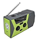 Emergency Hand Crank Self Powered AM/FM NOAA Solar Weather Radio with LED Flashlight