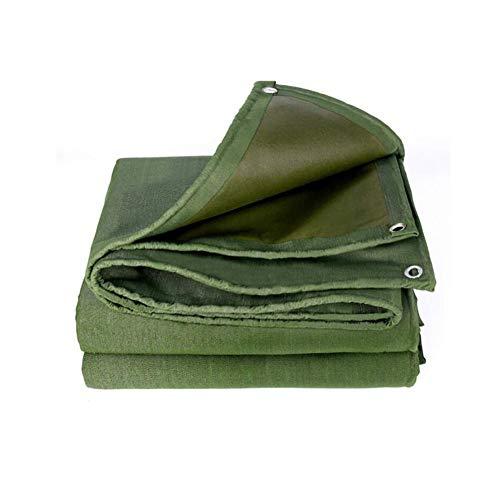 Planen Schwerlast Wasserdicht Sonnencreme Staubdicht Frostschutzmittel Segeltuch Antialterung Dicke 0,85 Mm Auto LKW Abdeckung TIDLT (Color : Green, Size : 4x5m)
