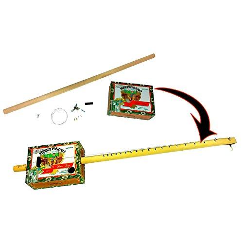 one-string Zigarre Box Gitarre diddleybow, leicht aufzubauen, alle Teile, Hardware und Anleitung im Lieferumfang enthalten