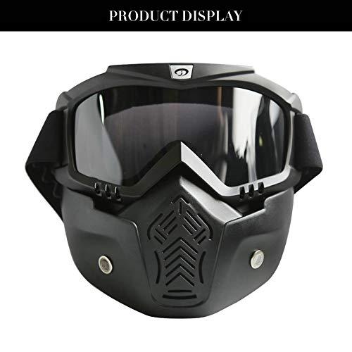 KnBoB Ski Maske Weiß Motorradbrillen Brillenträger Schneemaske Damen Schwarz Braun (Fußball Ski-maske)