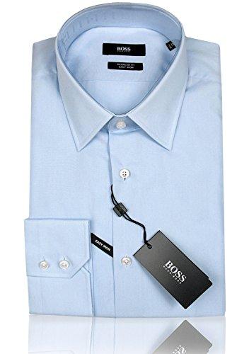 HUGO BOSS Business-Hemd | Enzo ( Regular Fit ) schwarz hellblau weiß (38 | S, Hellblau)