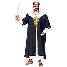 WIDMANN 05500 Men's Sultan Costume XXL Black