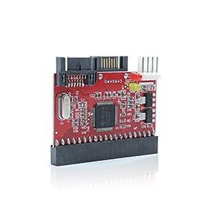 G02 2in1 Adapter Wandler IDE auf SATA or SATA auf IDE Festplatte DVD Laufwerk, Unterstützt ATA 100/133, Serial-ATA (SATA)-Spezifikation, Daten-Übertragungsrate bis zu 1,5G pro Sekunde, Kein Treiber erforderlich, Maximale Festplattenkapazität: 160GB, Abmessungen (HxBxT): 50mm x 45mm x 5mm, 30cm Kabellänge