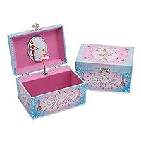 Lucy Locket Beautiful Musical Jewellery Box for Children - Kids Jewellery Box - Woodland Animals or Ballerina Design